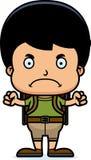 Cartoon Angry Hiker Boy Stock Image