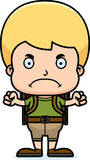 Cartoon Angry Hiker Boy Stock Images
