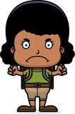 Cartoon Angry Hiker Girl Stock Photo