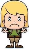 Cartoon Angry Hiker Girl Stock Image