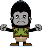 Cartoon Angry Hiker Gorilla Royalty Free Stock Photography