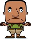 Cartoon Angry Hiker Man Stock Photos
