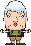 Cartoon Angry Hiker Woman Royalty Free Stock Image