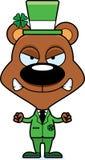 Cartoon Angry Irish Bear Royalty Free Stock Photography