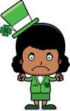 Cartoon Angry Irish Girl Royalty Free Stock Image