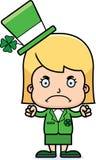 Cartoon Angry Irish Girl Royalty Free Stock Photo