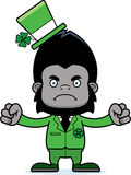 Cartoon Angry Irish Gorilla Stock Images