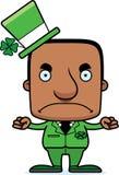 Cartoon Angry Irish Man Stock Image