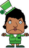 Cartoon Angry Irish Woman Stock Images