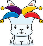 Cartoon Angry Jester Bunny Stock Images