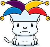 Cartoon Angry Jester Kitten Royalty Free Stock Photos