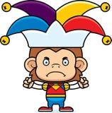 Cartoon Angry Jester Monkey Royalty Free Stock Photo