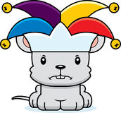 Cartoon Angry Jester Mouse Royalty Free Stock Photo