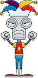 Cartoon Angry Jester Robot Royalty Free Stock Photography