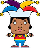 Cartoon Angry Jester Woman Stock Photos