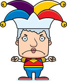 Cartoon Angry Jester Woman Stock Photography