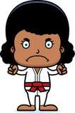 Cartoon Angry Karate Girl Stock Photography