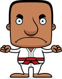 Cartoon Angry Karate Man Stock Images
