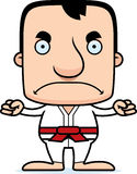 Cartoon Angry Karate Man Stock Photography