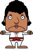 Cartoon Angry Karate Woman Royalty Free Stock Photo