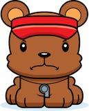 Cartoon Angry Lifeguard Bear Stock Image