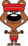 Cartoon Angry Lifeguard Bear Royalty Free Stock Photography