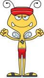 Cartoon Angry Lifeguard Bee Royalty Free Stock Photos