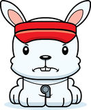 Cartoon Angry Lifeguard Bunny Royalty Free Stock Photo