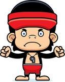 Cartoon Angry Lifeguard Chimpanzee Stock Photography