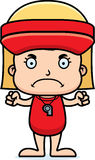 Cartoon Angry Lifeguard Girl Stock Photo