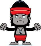 Cartoon Angry Lifeguard Gorilla Stock Photos