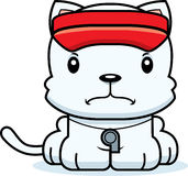 Cartoon Angry Lifeguard Kitten Stock Photography