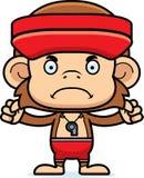 Cartoon Angry Lifeguard Monkey Stock Images