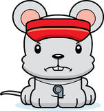 Cartoon Angry Lifeguard Mouse Stock Images