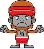 Cartoon Angry Lifeguard Orangutan Royalty Free Stock Image