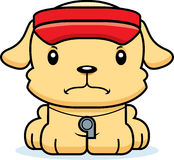 Cartoon Angry Lifeguard Puppy Stock Images