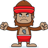 Cartoon Angry Lifeguard Sasquatch Royalty Free Stock Image