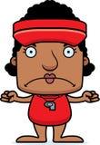 Cartoon Angry Lifeguard Woman Stock Images