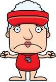 Cartoon Angry Lifeguard Woman Royalty Free Stock Photography