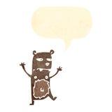 cartoon angry little bear vector illustration