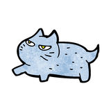 Cartoon angry little cat Stock Images