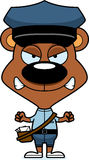 Cartoon Angry Mail Carrier Bear Stock Photo