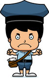 Cartoon Angry Mail Carrier Boy Royalty Free Stock Image