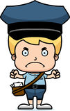 Cartoon Angry Mail Carrier Boy Stock Photos