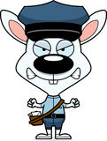 Cartoon Angry Mail Carrier Bunny Royalty Free Stock Photos