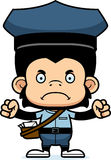 Cartoon Angry Mail Carrier Chimpanzee Royalty Free Stock Photo