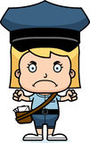 Cartoon Angry Mail Carrier Girl Stock Photography