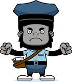 Cartoon Angry Mail Carrier Gorilla Stock Photography