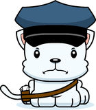 Cartoon Angry Mail Carrier Kitten Royalty Free Stock Image