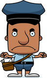 Cartoon Angry Mail Carrier Man Royalty Free Stock Photos